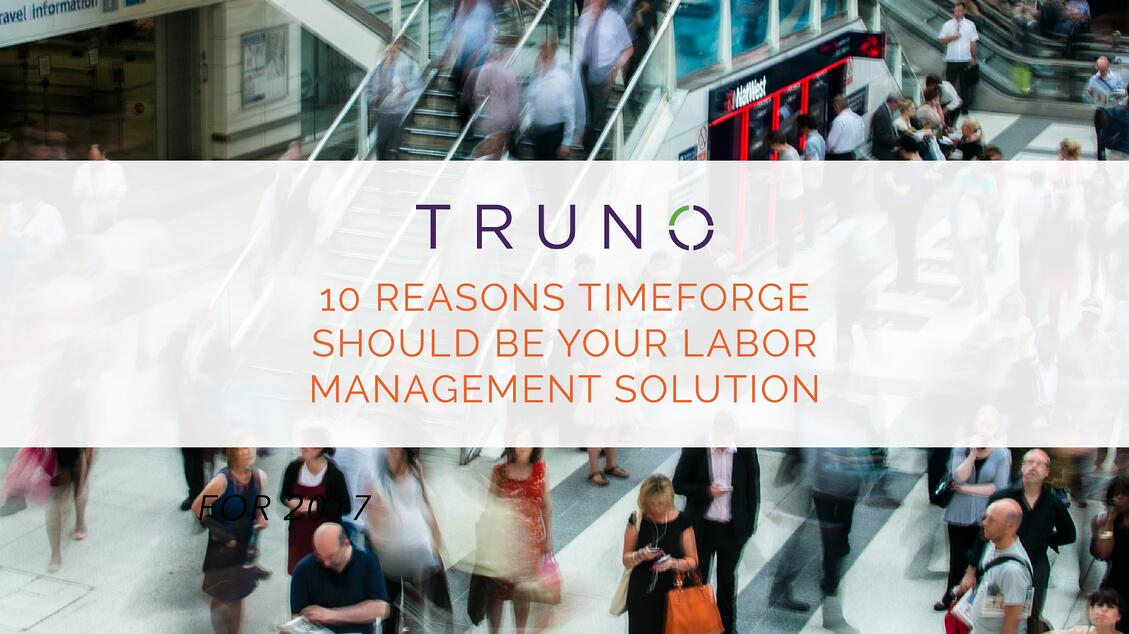 TimeForge As Your Labor Management Solution for 2017